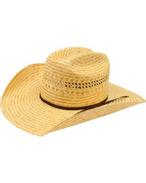 Ariat Poly Rope Americana Straw Cowboy Hat, , hi-res