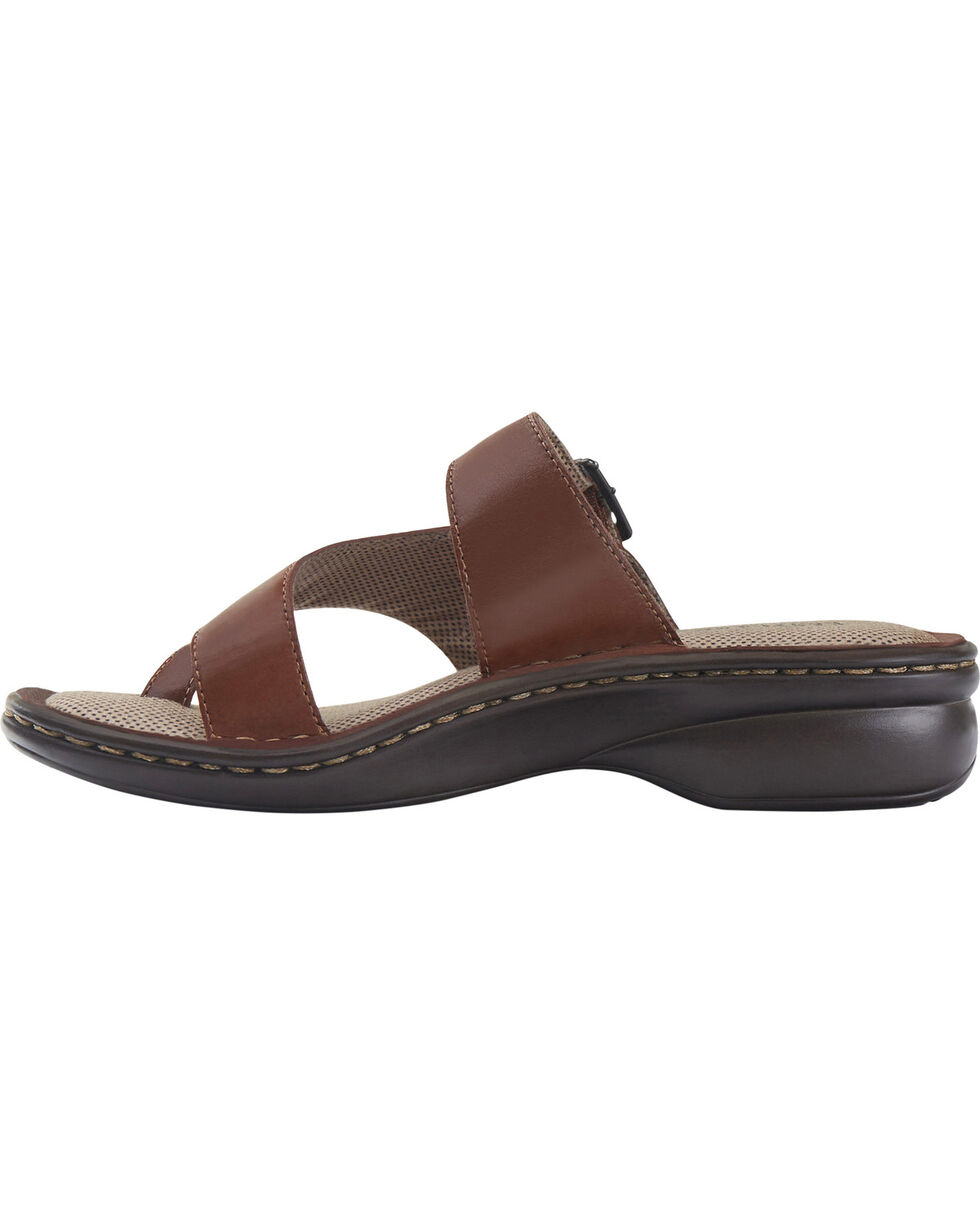 Eastland Women's Tan Townsend Thong Sandals , Brown, hi-res