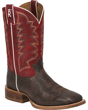 Tony Lama Men's 3R Stockman Boots, Dark Brown, hi-res