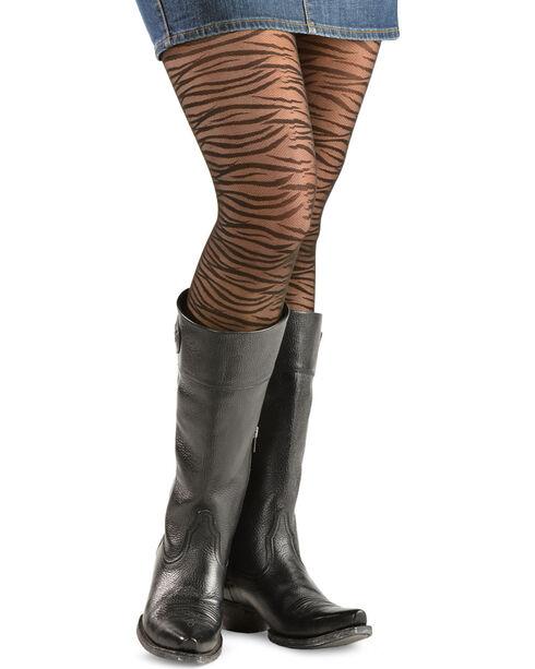 Bootights Women's Sahara Zebra Boot Tights, Jet, hi-res