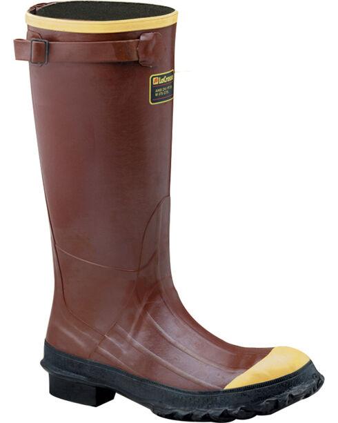"Lacrosse Men's PAC 16"" Steel Toe Work Boots, Rust Copper, hi-res"