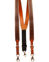 Nocona Men's Tooled Suspenders , , hi-res