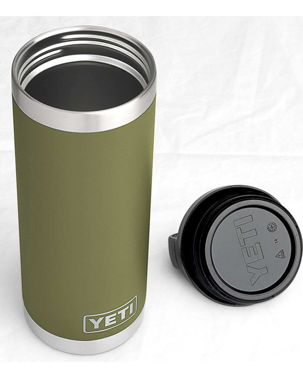 Yeti Olive Green 18 oz. Bottle Rambler , , hi-res
