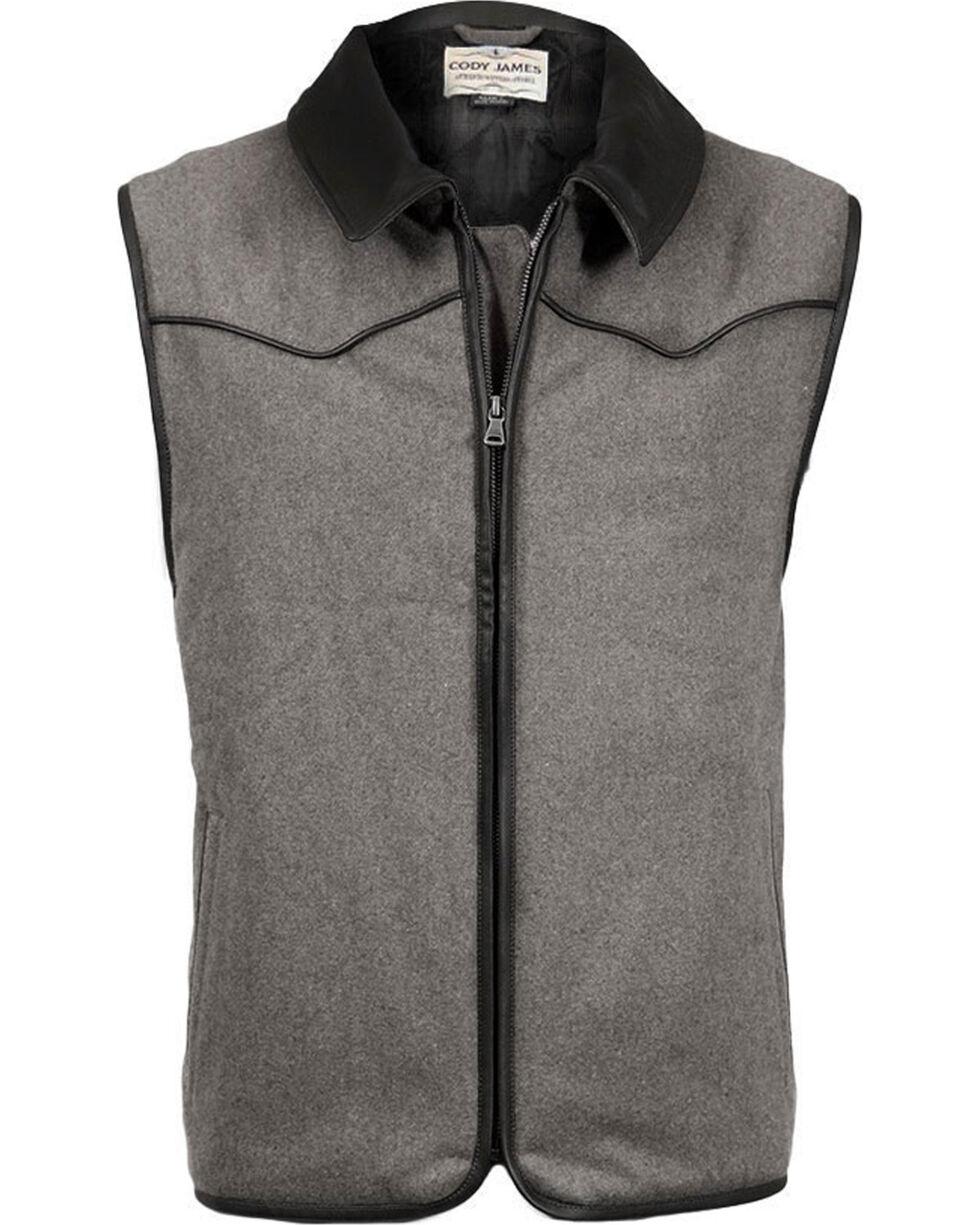 Cody James Men's Rifleman Insulated Wool Vest - Big, Charcoal, hi-res