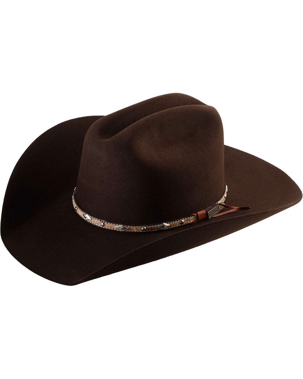 Larry Mahan 5X Brindle Brown Fur Felt Cowboy Hat, Brown, hi-res