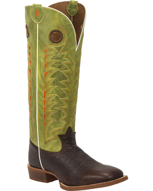Tony Lama Men's Choco Jasper 3R Buckaroo Boots, Chocolate, hi-res
