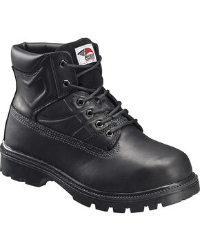 Avenger Men's Lace Up High Heat Steel Toe Work Boots, Black, hi-res