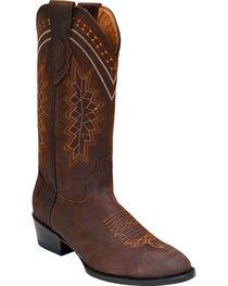 Ferrini Men's Navajo Western Boots - Round Toe , , hi-res