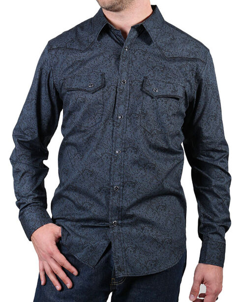 Cody James® Men's Gunsmoke Long Sleeve Shirt, Grey, hi-res
