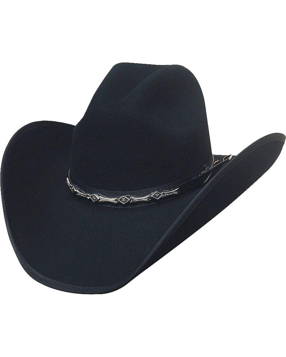 Bullhide Men's Big Shot 8X Fur Blend Hat, Black, hi-res
