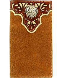 Ariat Men's Rodeo Pierced Overlay Wallet , , hi-res