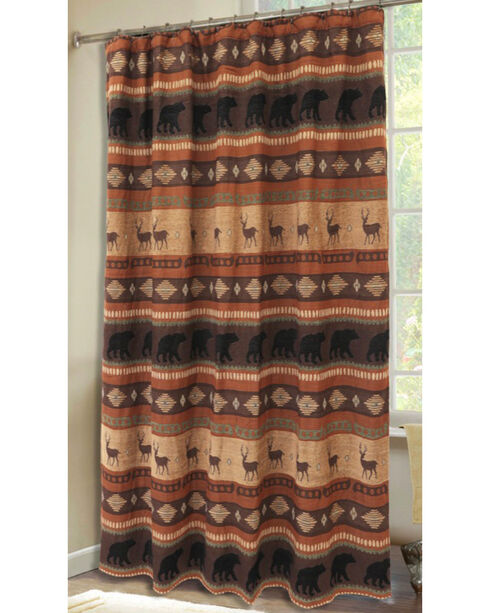 Carstens Autumn Trails Shower Curtain, Rust Copper, hi-res