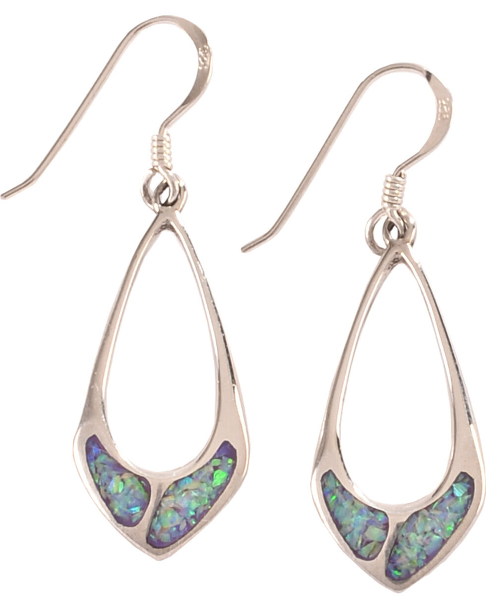 Silver Legends Women's Sterling Silver & Opal Dangle Earrings, Lavender, hi-res