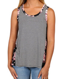 Eyeshadow Women's Floral and Stripe Tank, , hi-res
