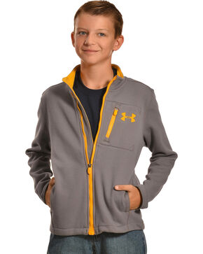 Under Armour Kids' Grantie Jacket, Grey, hi-res
