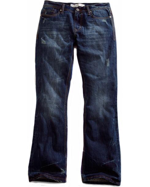 Tin Haul Men's Jagger Fit 2 Deco Stitch Bootcut Jeans, Denim, hi-res