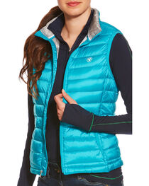Ariat Women's Lanai Blue Ideal Down Vest , , hi-res