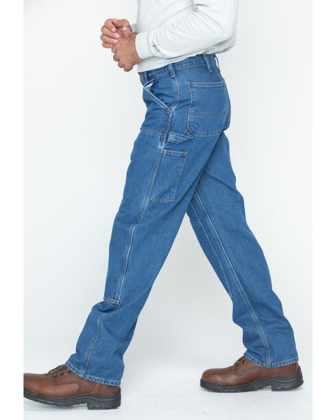 Carhartt Men's Double Front Logger Dungaree Work Pants, Dark Stone, hi-res