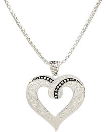 Montana Silversmiths Women's Twisted Heart Necklace, , hi-res