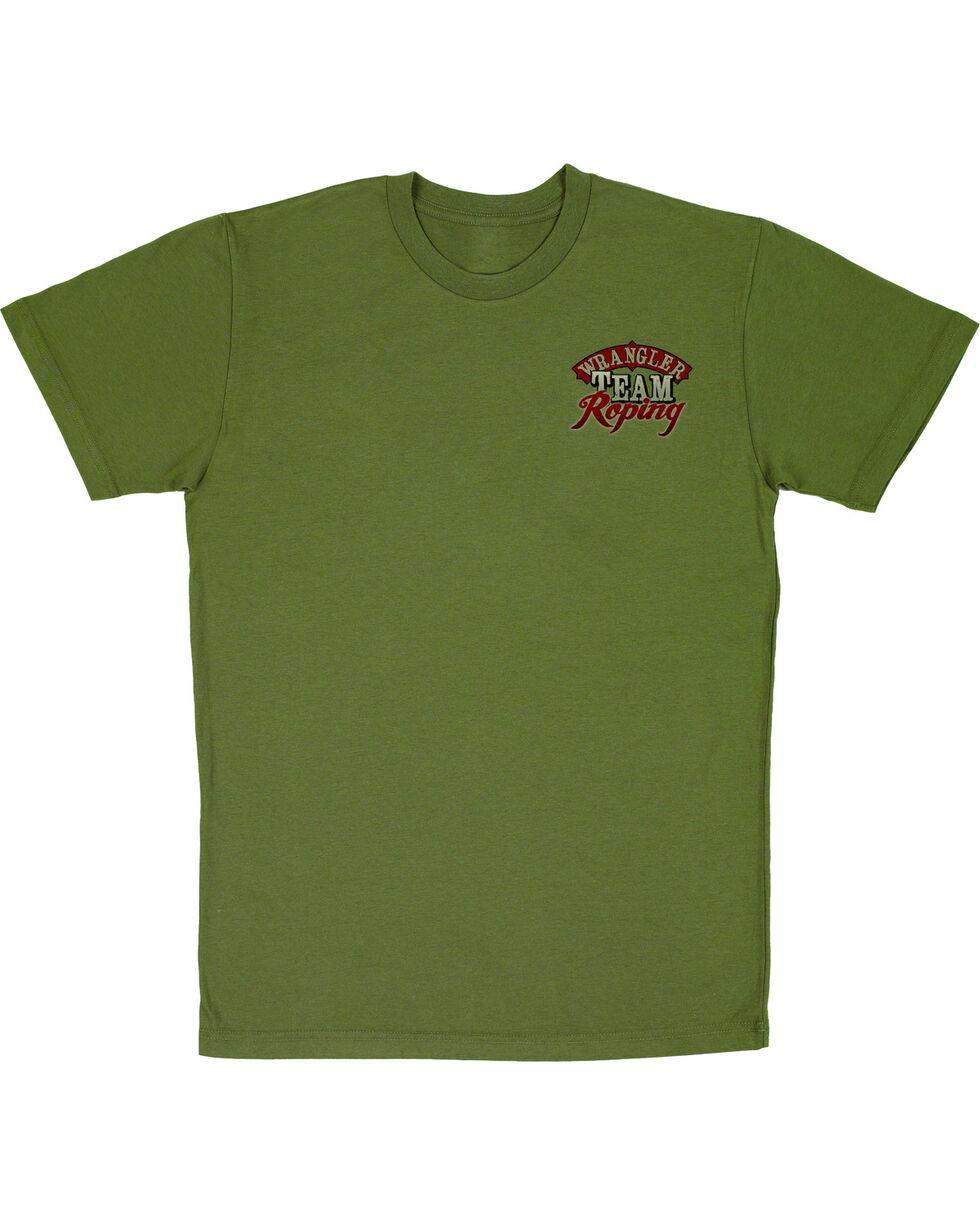 Wrangler Men's Short Sleeve Team Roping Tee, Green, hi-res