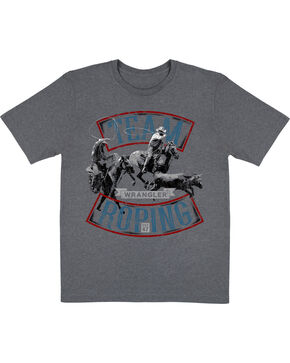 "Wrangler Boys' ""Team Roping"" T-Shirt, Grey, hi-res"