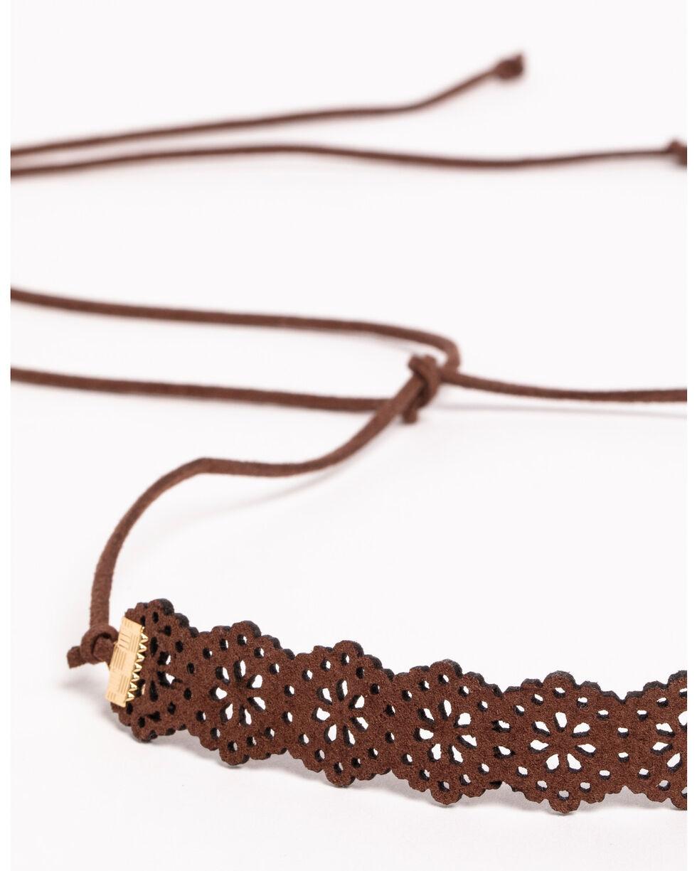Shyanne® Women's Wraparound Lasercut Bracelet, Brown, hi-res
