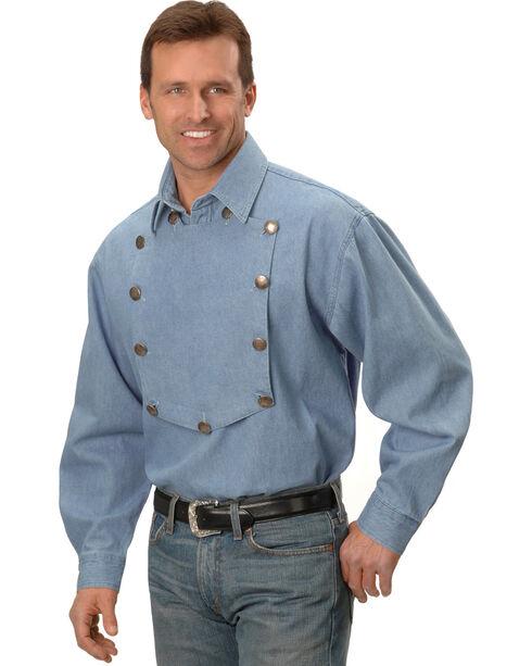 Scully Men's Range Wear Bib Shirt, Blue, hi-res
