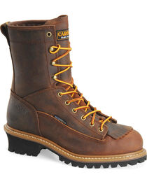 "Carolina Men's Logger 8"" Steel Toe Work Boots, , hi-res"