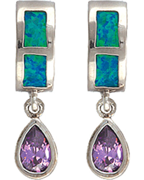 Montana Silversmiths River Lights Purple Tears Earrings, Multi, hi-res