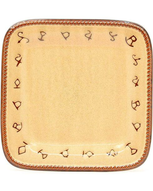 Rustic Ranch Ceramic Salad Plates - Set of 4, Tan, hi-res