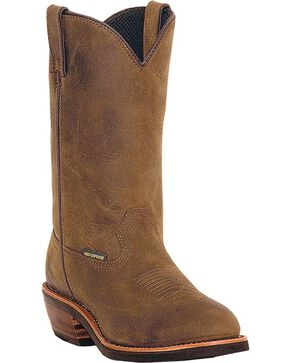 "Dan Post Men's 12"" Waterproof Steel Toe Work Boots, Tan, hi-res"