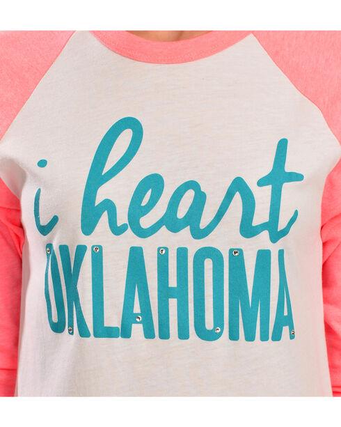 """ATX Mafia """"I Heart Oklahoma"""" Baseball Tee, White, hi-res"""
