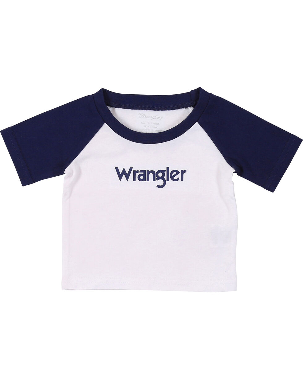Wrangler Infant Boys' White Baseball Logo Tee, , hi-res