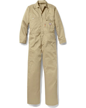 Rasco Men's Khaki FR Coveralls , Multi, hi-res