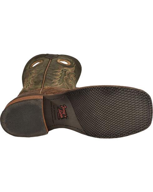 Tony Lama Tan Elephant Grain Americana Cowboy Boots - Square Toe , Tan, hi-res