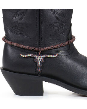 Shyanne® Women's Longhorn Boot Bracelet, Brown, hi-res