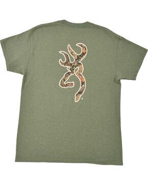 Browning Men's Heather Green Mo Country Buckmark T-Shirt , Loden, hi-res
