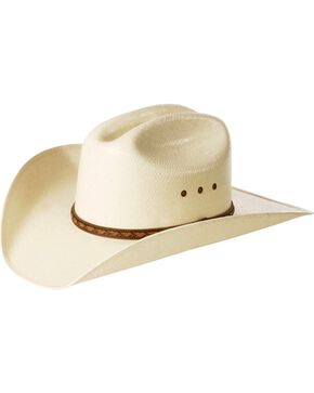 Justin Men's Braided Hat Band Straw Hat, Natural, hi-res