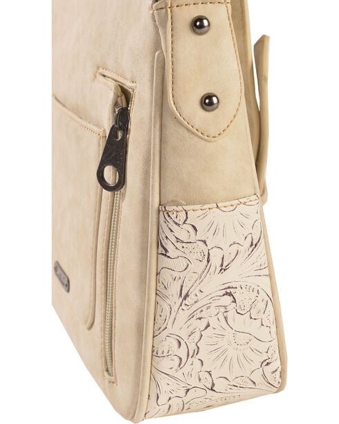 Shyanne Women's Floral Tooled Concho Crossbody Bag, Beige/khaki, hi-res