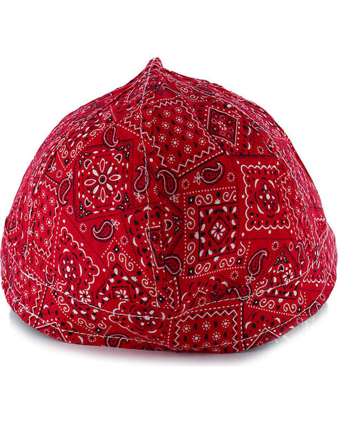 American Worker Men's Paisley Red Welding Cap, Red, hi-res