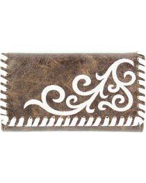 M&F Women's Blazin Roxx Western Scroll Tri-Fold Wallet, , hi-res