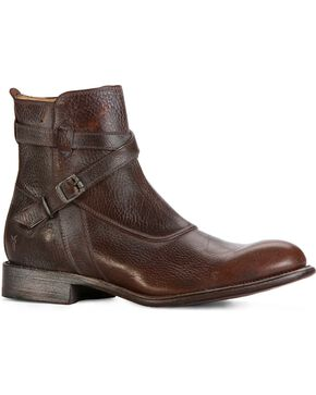 Frye Men's Jayden Crosstrap Boots - Round Toe, Dark Brown, hi-res