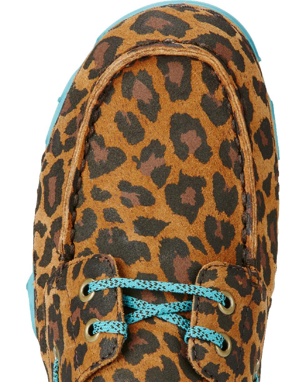 Ariat Women's Caldwell Leopard Print Mocs, Tan, hi-res