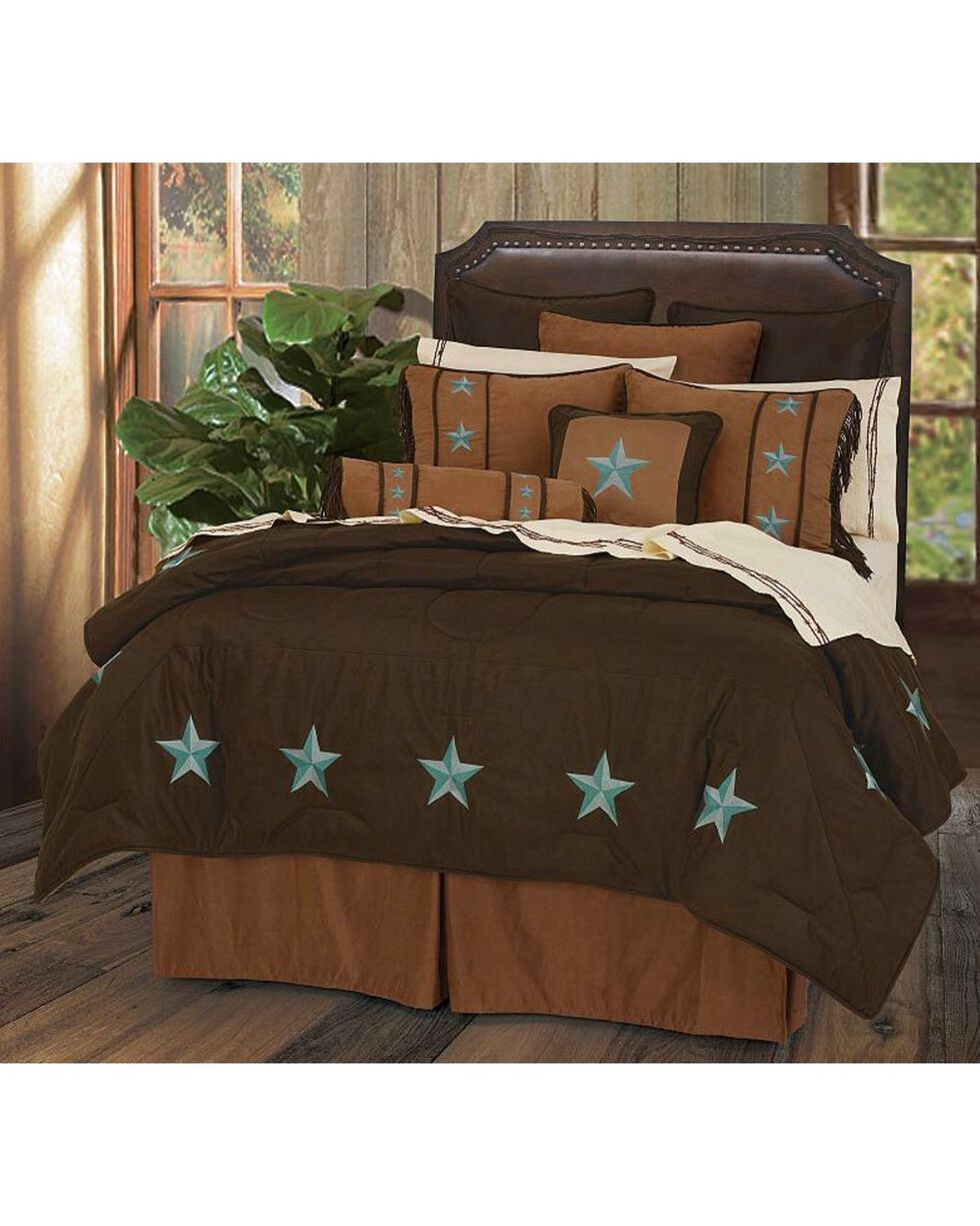HiEnd Accents Turquoise Laredo 6-Piece King Comforter Set, Multi, hi-res