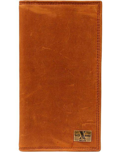 Nocona HDX Checkbook Wallet, Aged Bark, hi-res