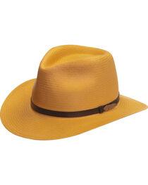 Black Creek Men's Toyo Straw Hat with Metal Feather, , hi-res