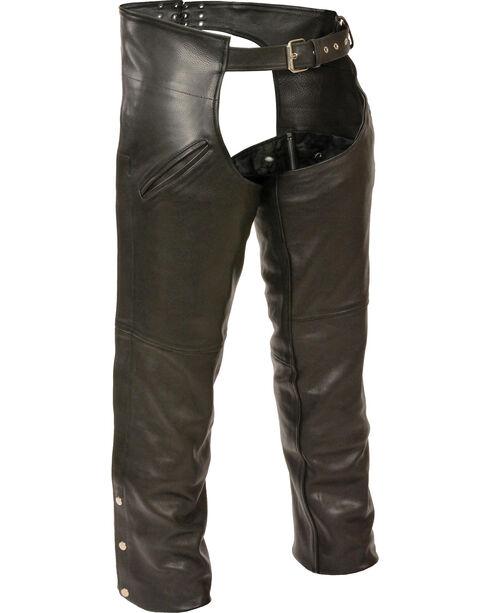 Milwaukee Leather Men's Slash Pocket Thermal Liner Chaps, Black, hi-res