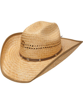 Charlie 1 Horse Hats Men's Straw Hat with Hatband , Toast, hi-res