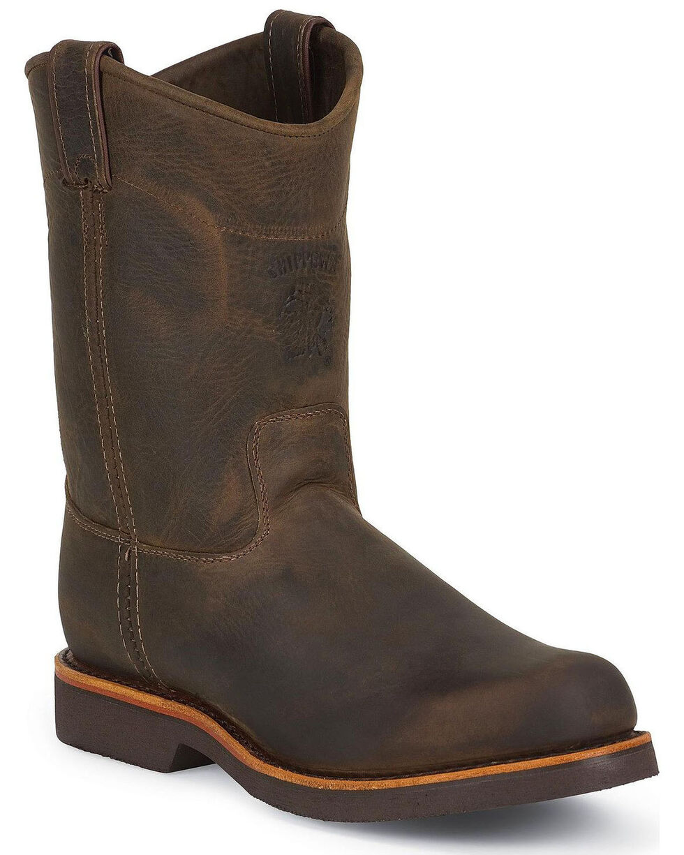 """Chippewa Men's 10"""" Utility Work Boots, Chocolate, hi-res"""