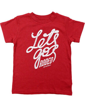 Farm Girl Toddler's Let's Go Rodeo T-Shirt, Red, hi-res